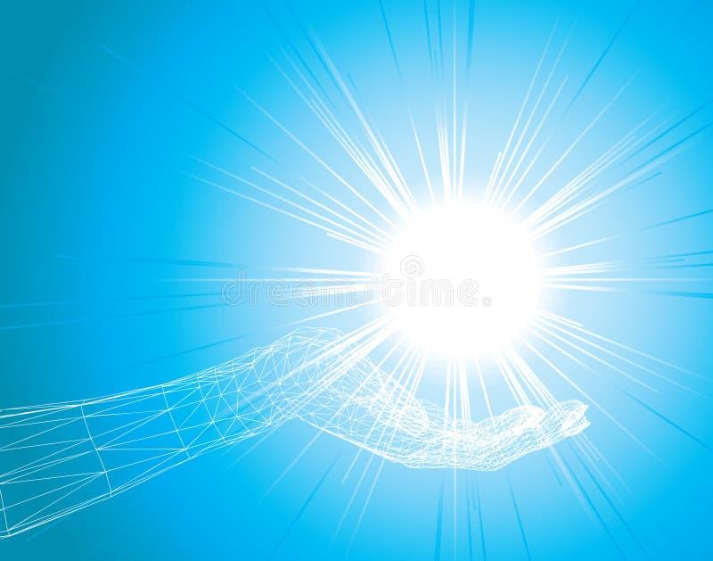 свет руки стоковые изображения