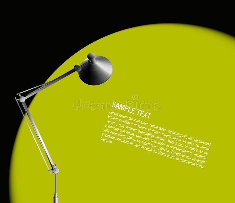 свет светильника стола зеленый иллюстрация вектора