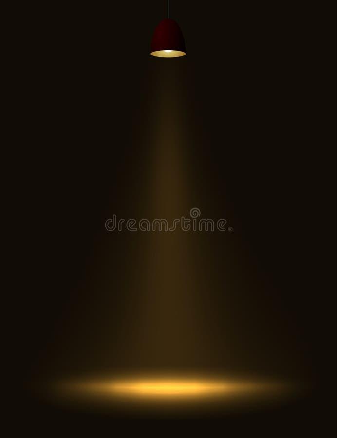 свет светильника иллюстрация вектора