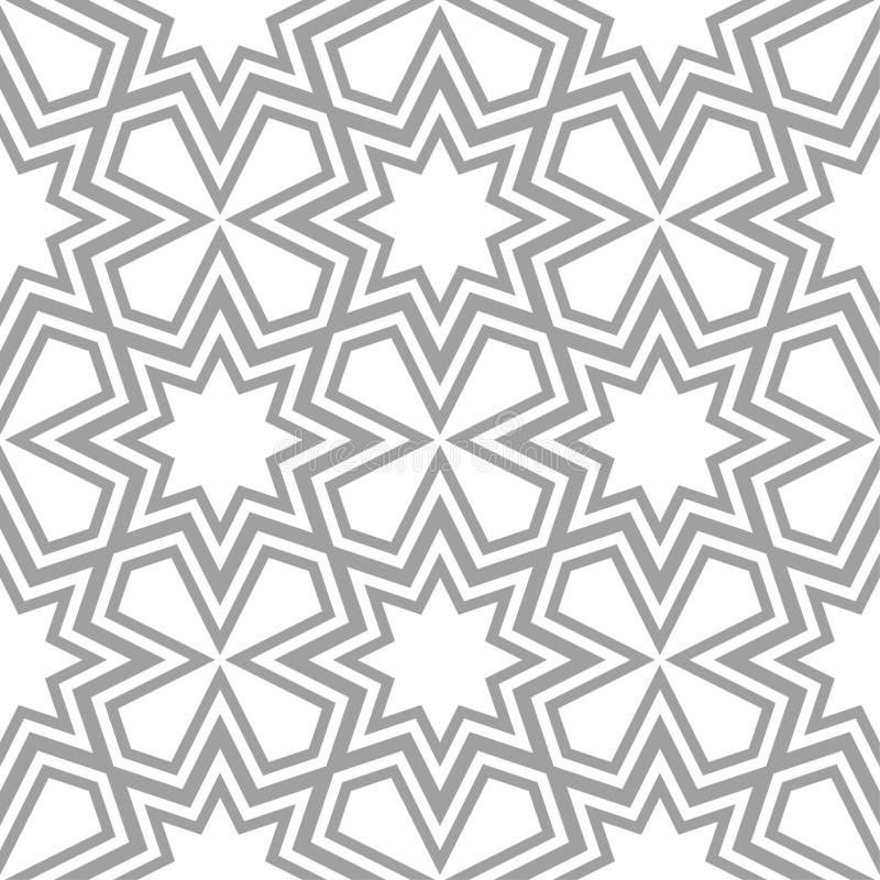 Свет - серая геометрическая печать картина безшовная иллюстрация вектора
