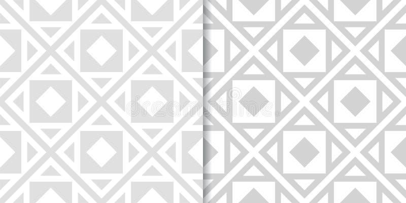 Свет - серые геометрические орнаменты делает по образцу безшовный комплект бесплатная иллюстрация