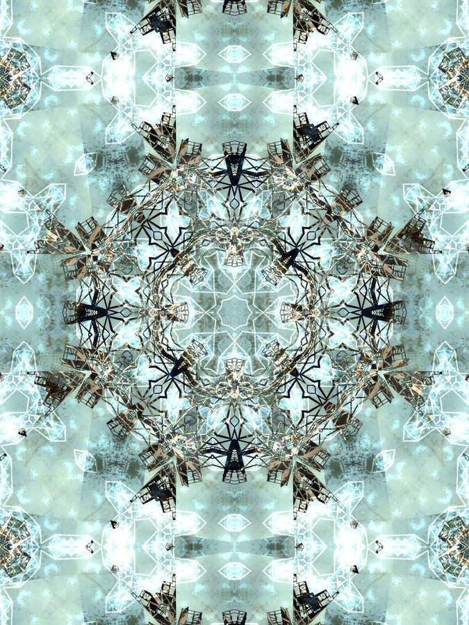 Свет - серый абстрактный калейдоскоп стоковое изображение