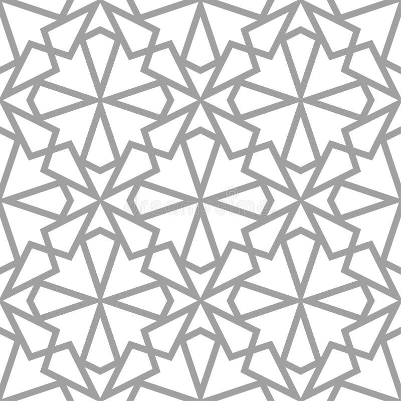 Свет - серый геометрический орнамент картина безшовная иллюстрация вектора