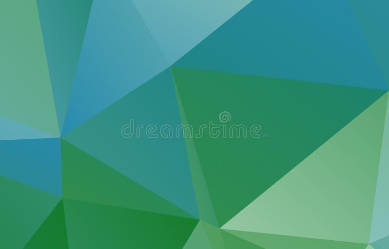 Свет - синь, зеленая полигональная иллюстрация бесплатная иллюстрация