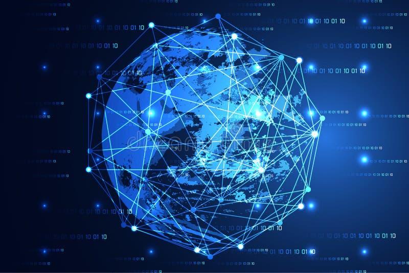 Свет современного мира концепции абстрактной технологии голубые и цифровой иллюстрация штока
