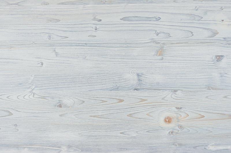 Свет - текстура голубого демикотона винтажная деревянная Взгляд сверху, деревянная доска стоковая фотография rf
