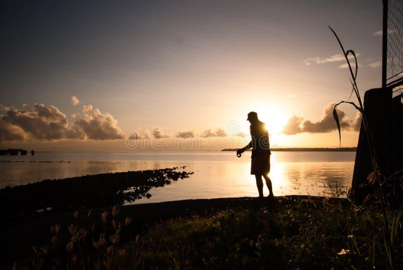 Свет утра заливом стоковые изображения