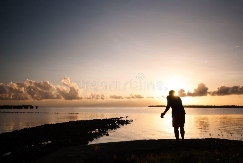 Свет утра заливом стоковое фото rf