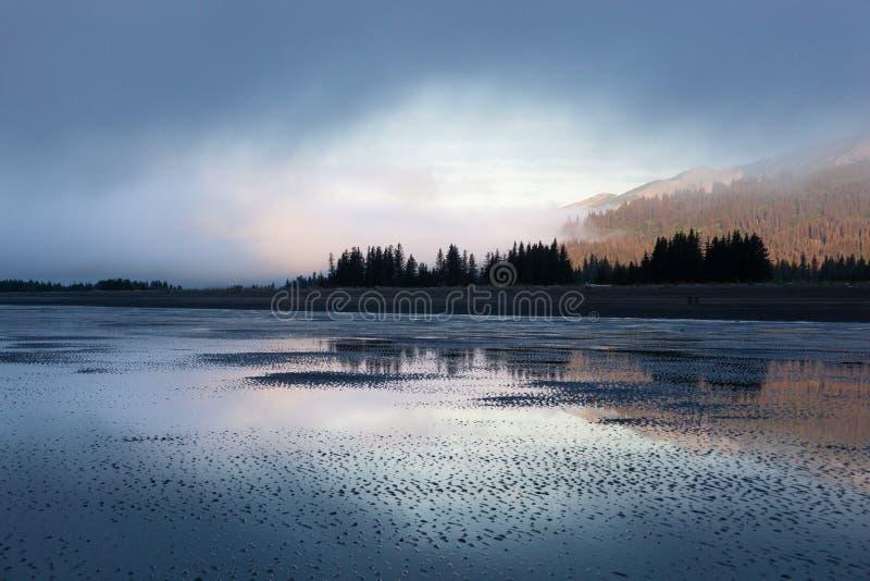 Свет утра национального парка Clark озера стоковые фотографии rf