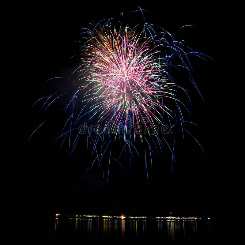 Свет фейерверков стоковое изображение