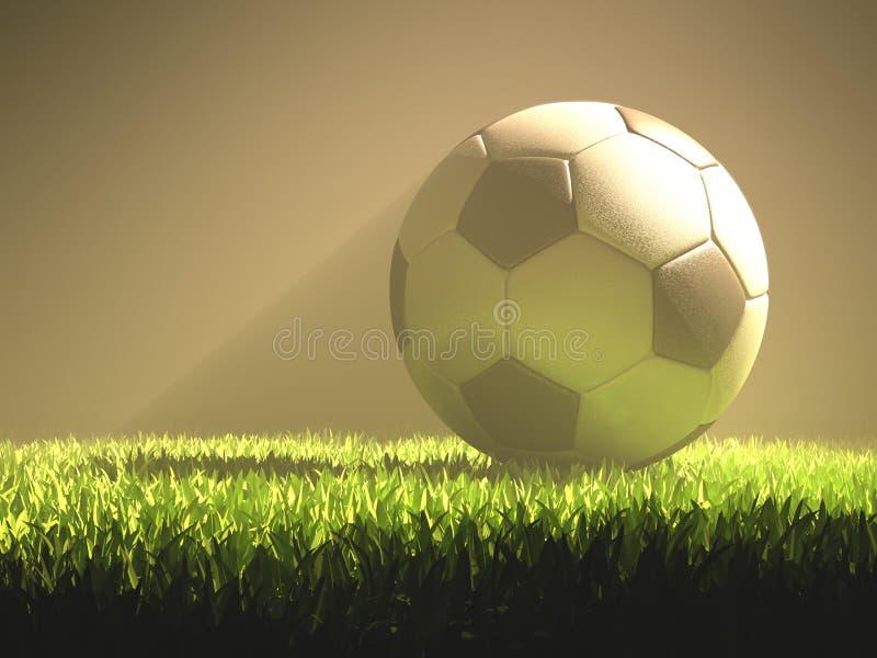 Свет футбольного мяча иллюстрация вектора