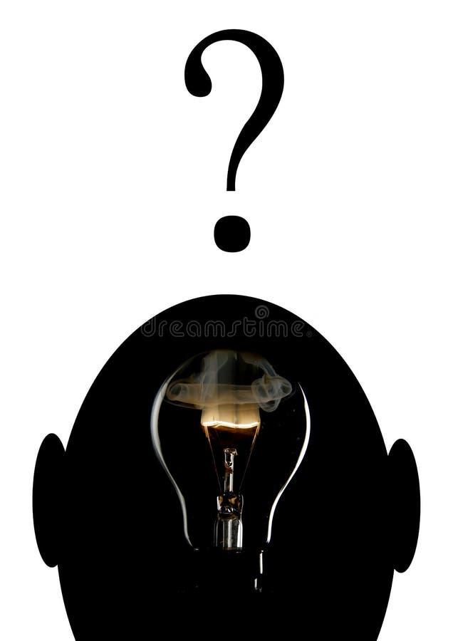 свет шарика взрывая головной стоковая фотография