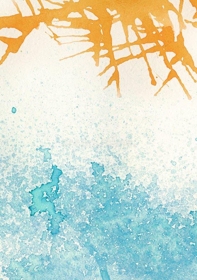 Светлые красочные пятна акварели иллюстрация вектора