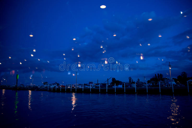 Светлые отражения на портовом районе Стоковая Фотография