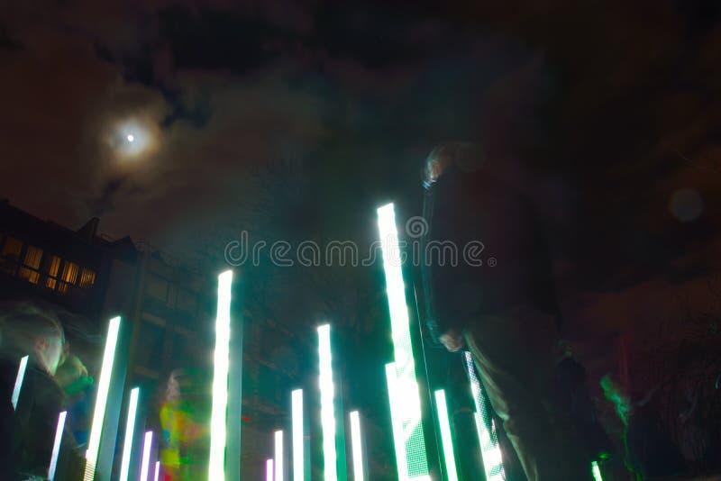 Светлые штендеры стоковое изображение rf