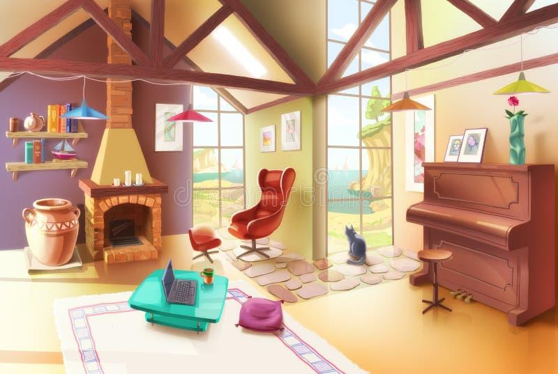 Светлый интерьер живущей комнаты