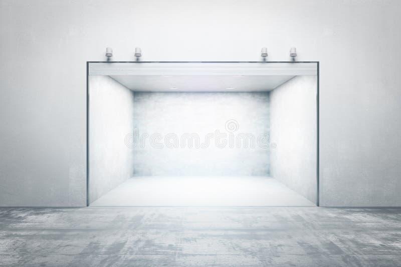 Светлый конкретный гараж иллюстрация вектора