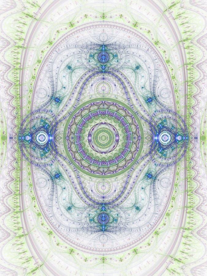 Светлый clockwork фрактали иллюстрация штока