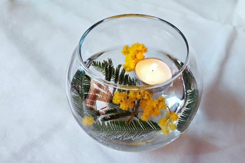 Свеча в стекле стоковое изображение rf