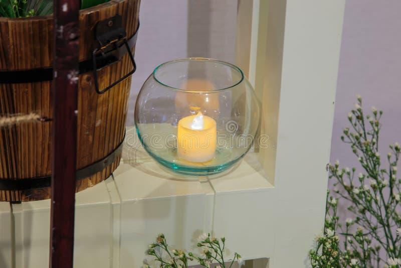 Свеча в стекле стоковая фотография rf