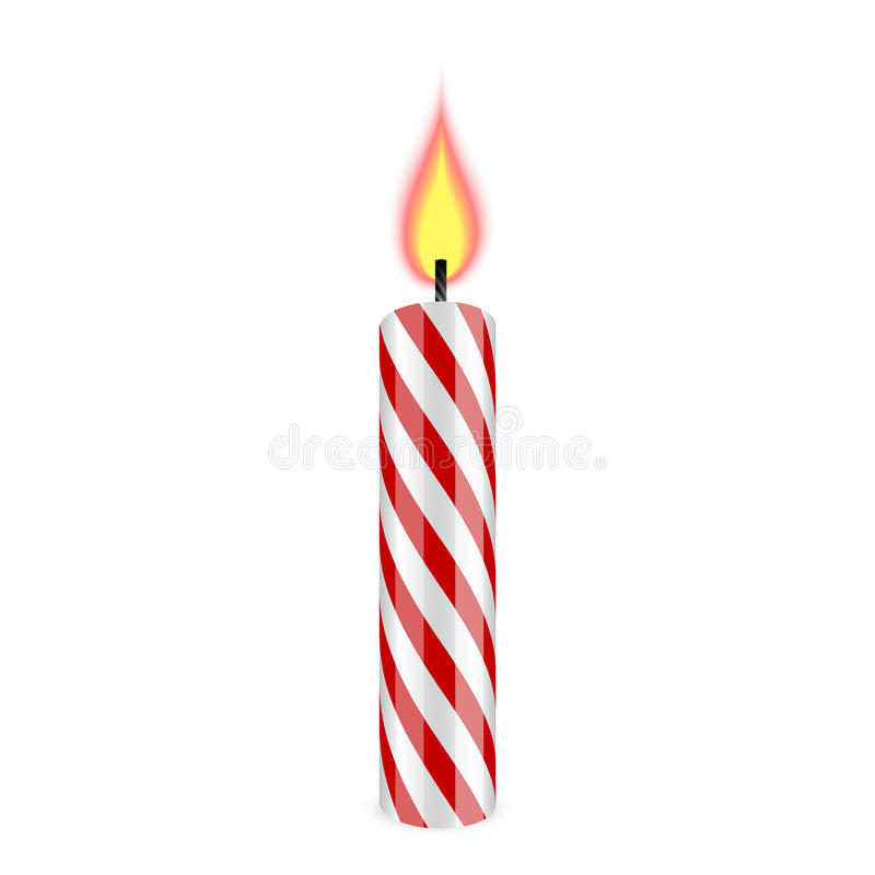 Свеча дня рождения иллюстрация штока