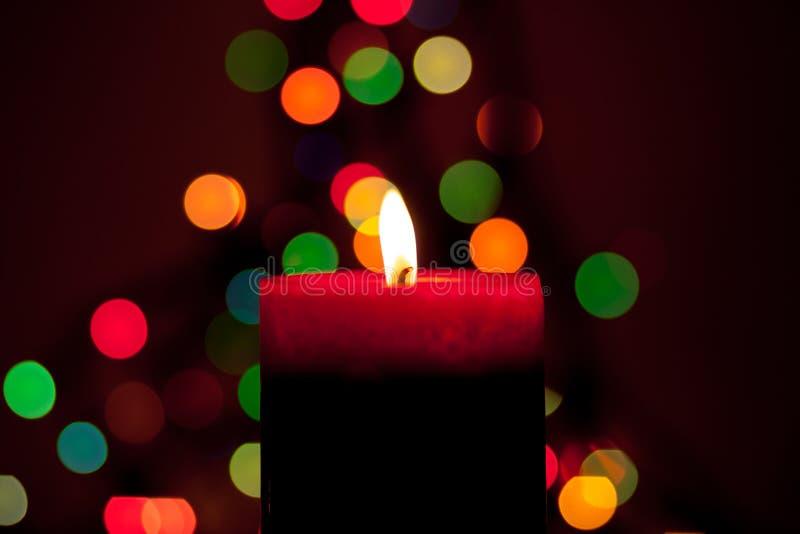 Свеча рождества стоковое фото