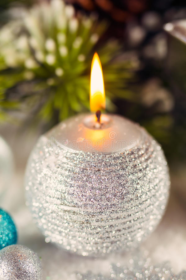 Свеча рождества стоковые фото