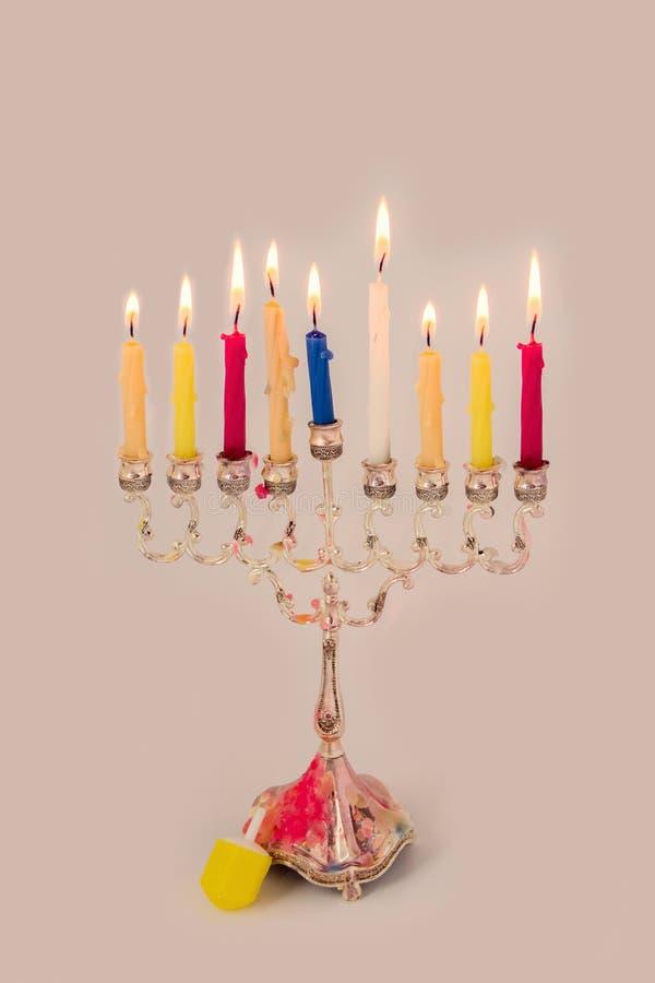 Свеча Хануки стоковая фотография