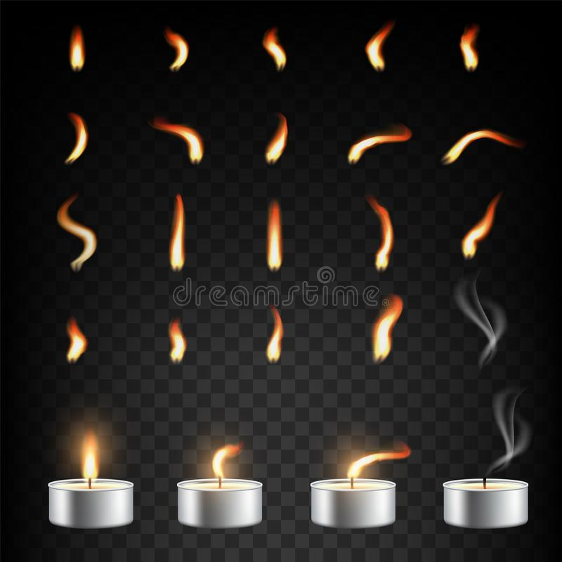 Свеча чая и регулирование пламени, вектор изолированная иллюстрация иллюстрация вектора