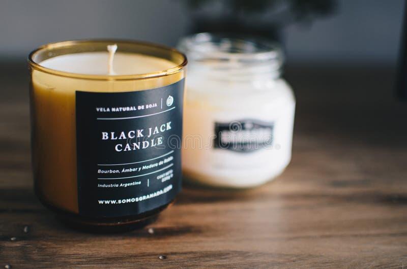 Свеча черного Джек стоковые фотографии rf