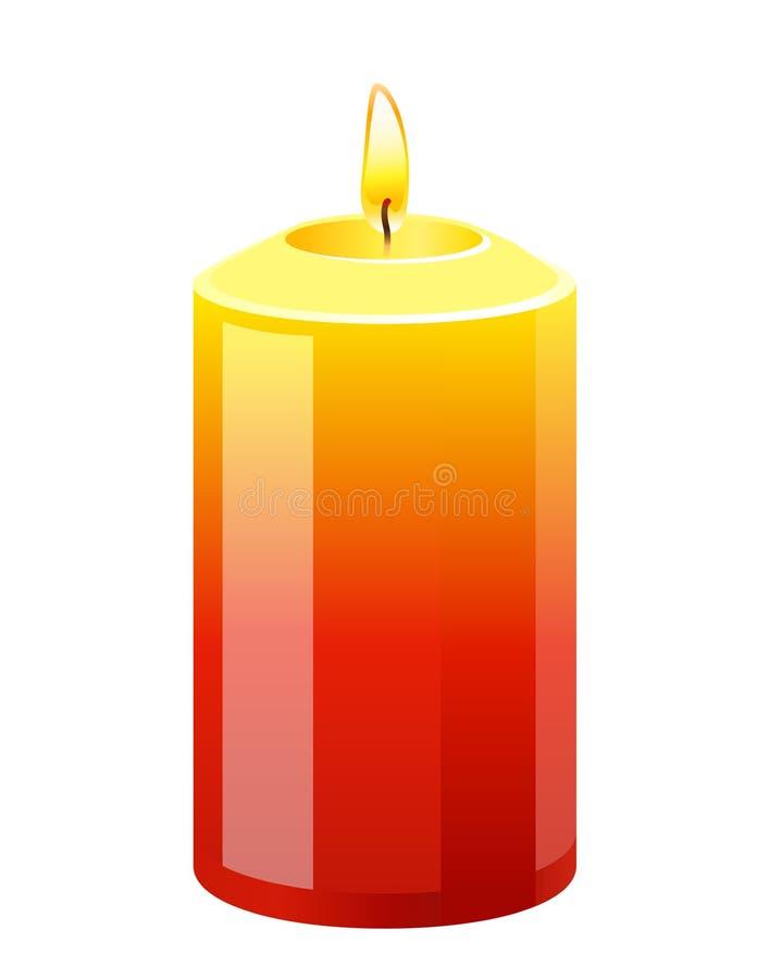 Свеча иллюстрация штока