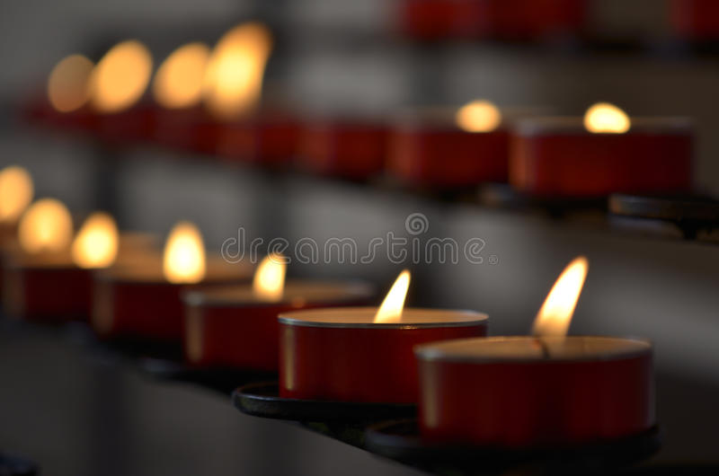 Свечи в церков Стоковые Фотографии RF