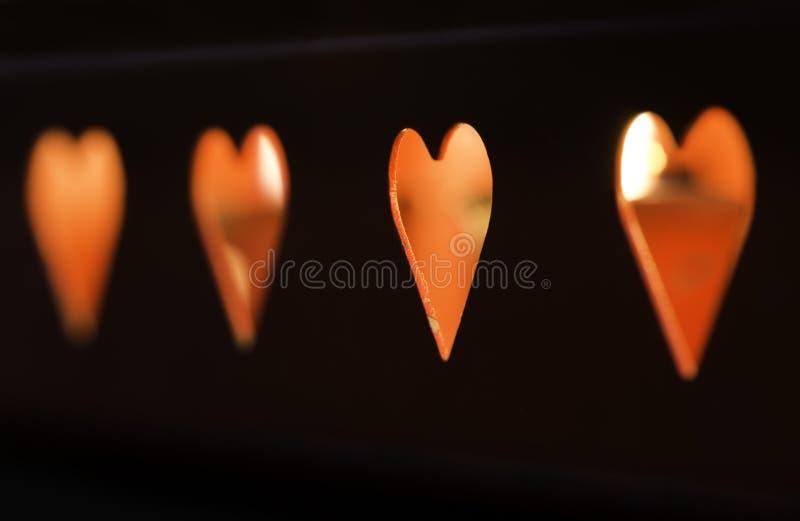 Свечи и формы сердца стоковые изображения rf