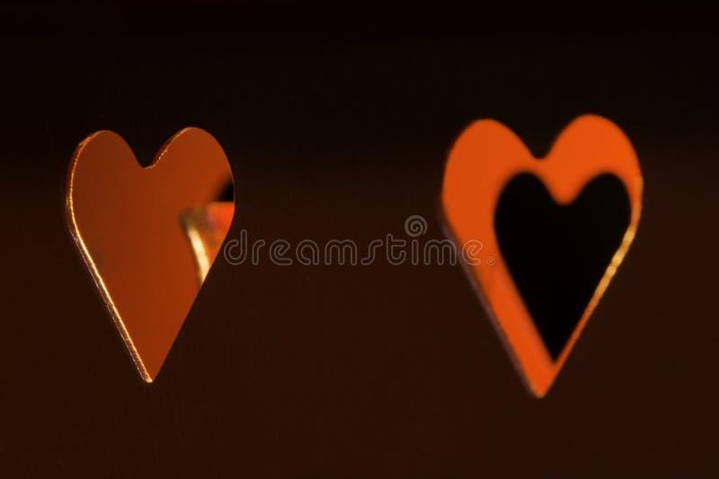 Свечи и формы сердца стоковое изображение rf
