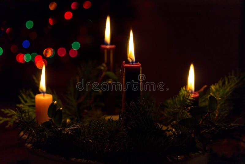Свечи пришествия стоковое изображение