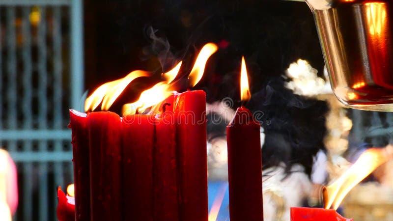 Свечи Тайваня священные стоковые изображения rf