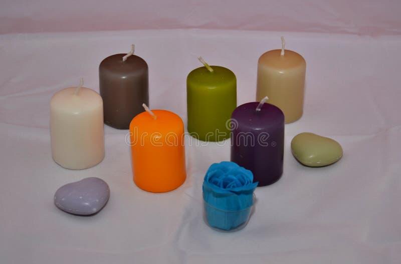 Свечи цветов стоковые фотографии rf