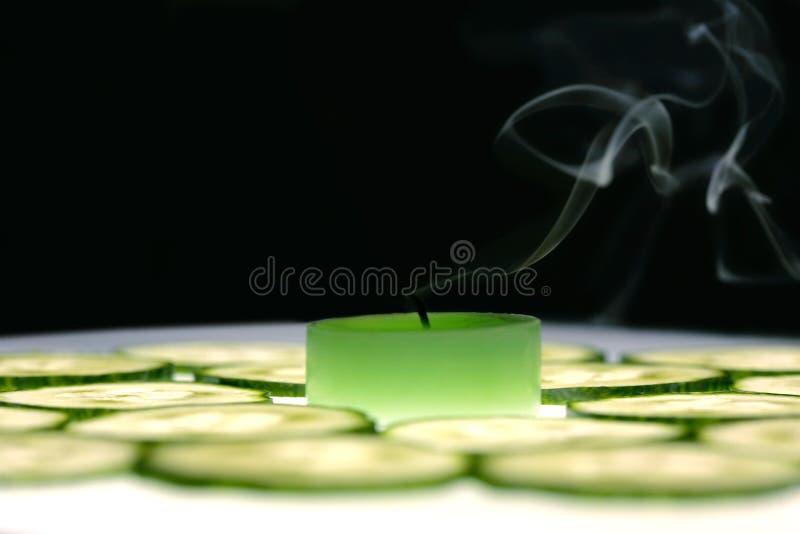 свечка ароматности стоковое фото rf