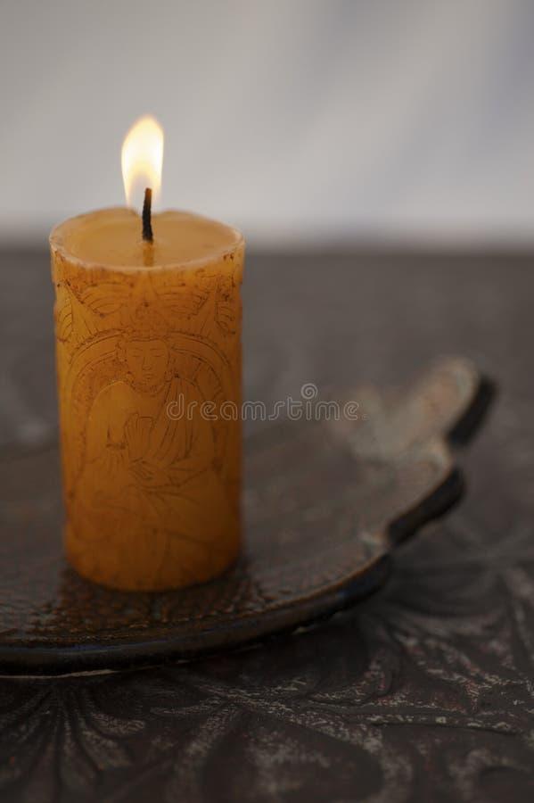 Свечка Будды стоковое изображение rf