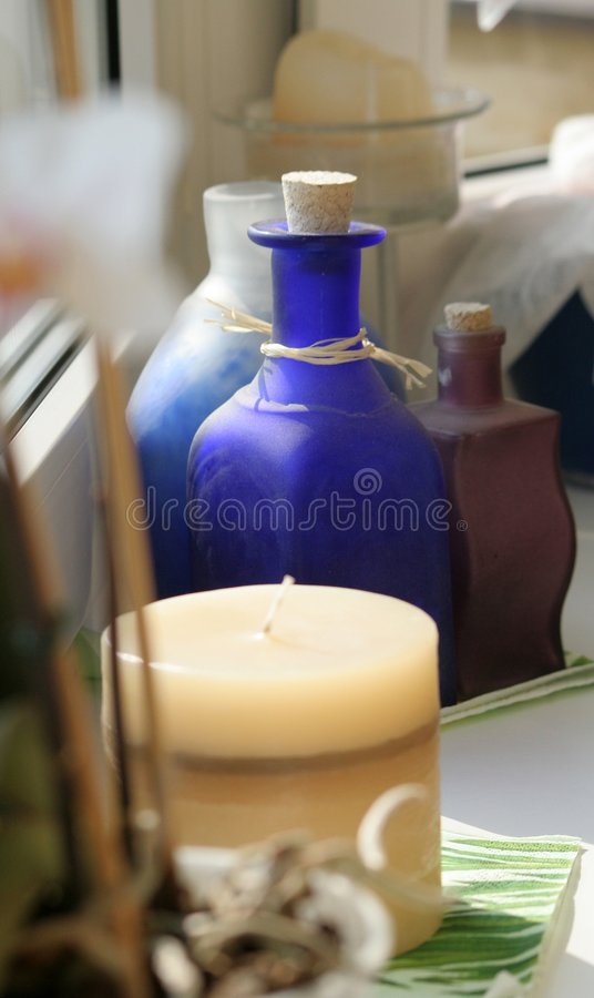 свечка бутылки стоковое фото rf