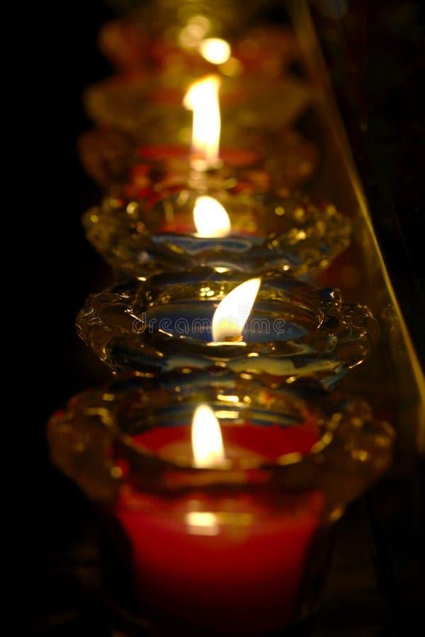 Свечка в церков стоковое изображение rf