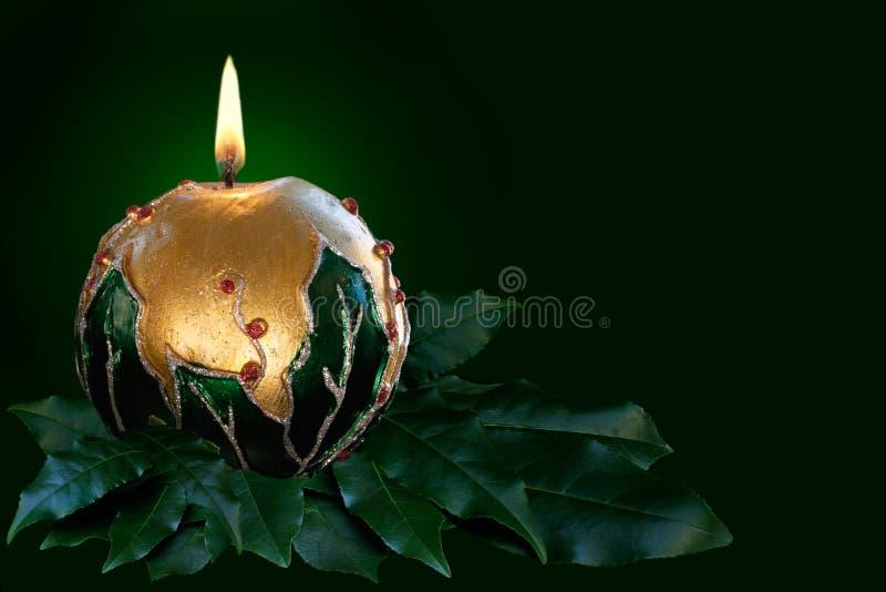 Свечка рождества золота стоковые фотографии rf