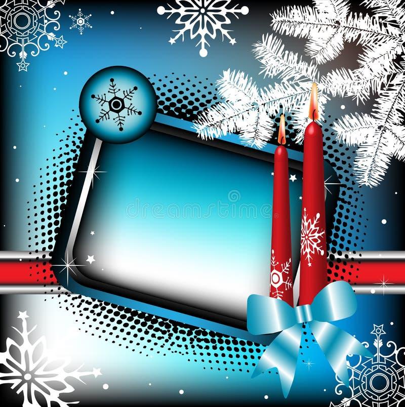 свечки зимы рамки иллюстрация вектора