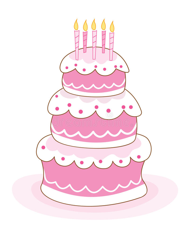 свечки именниного пирога иллюстрация вектора
