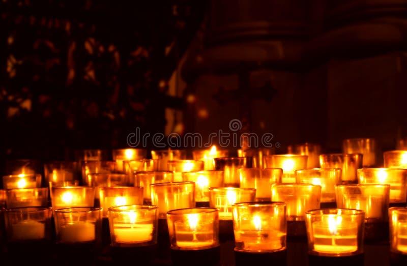 Свечки молитве стоковые фото