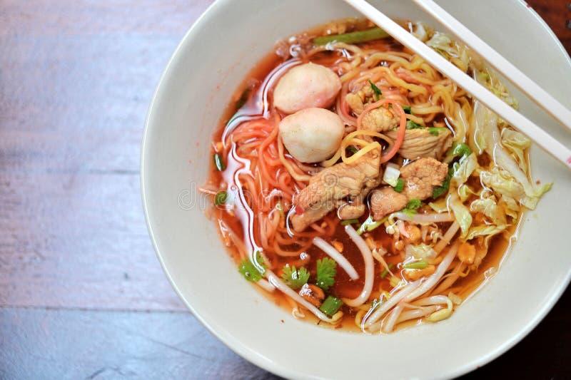 свинина лапши Малайзии еды bbq стоковые фотографии rf
