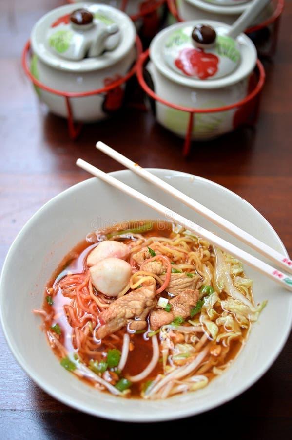 свинина лапши Малайзии еды bbq стоковое фото rf