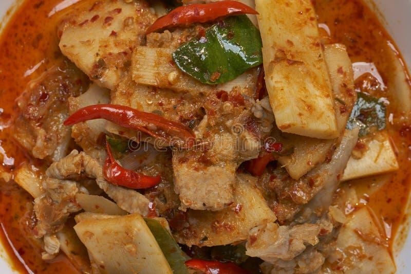 Свинина карри тайской еды красный стоковые изображения