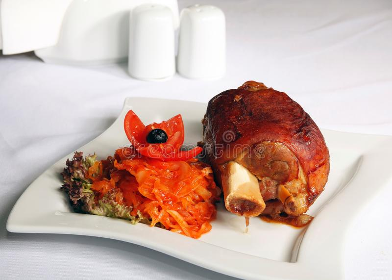 Свинина костяшки стоковое изображение