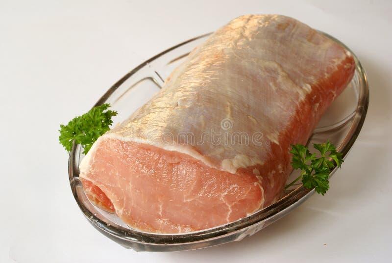 свинина loin сырцовый стоковое фото